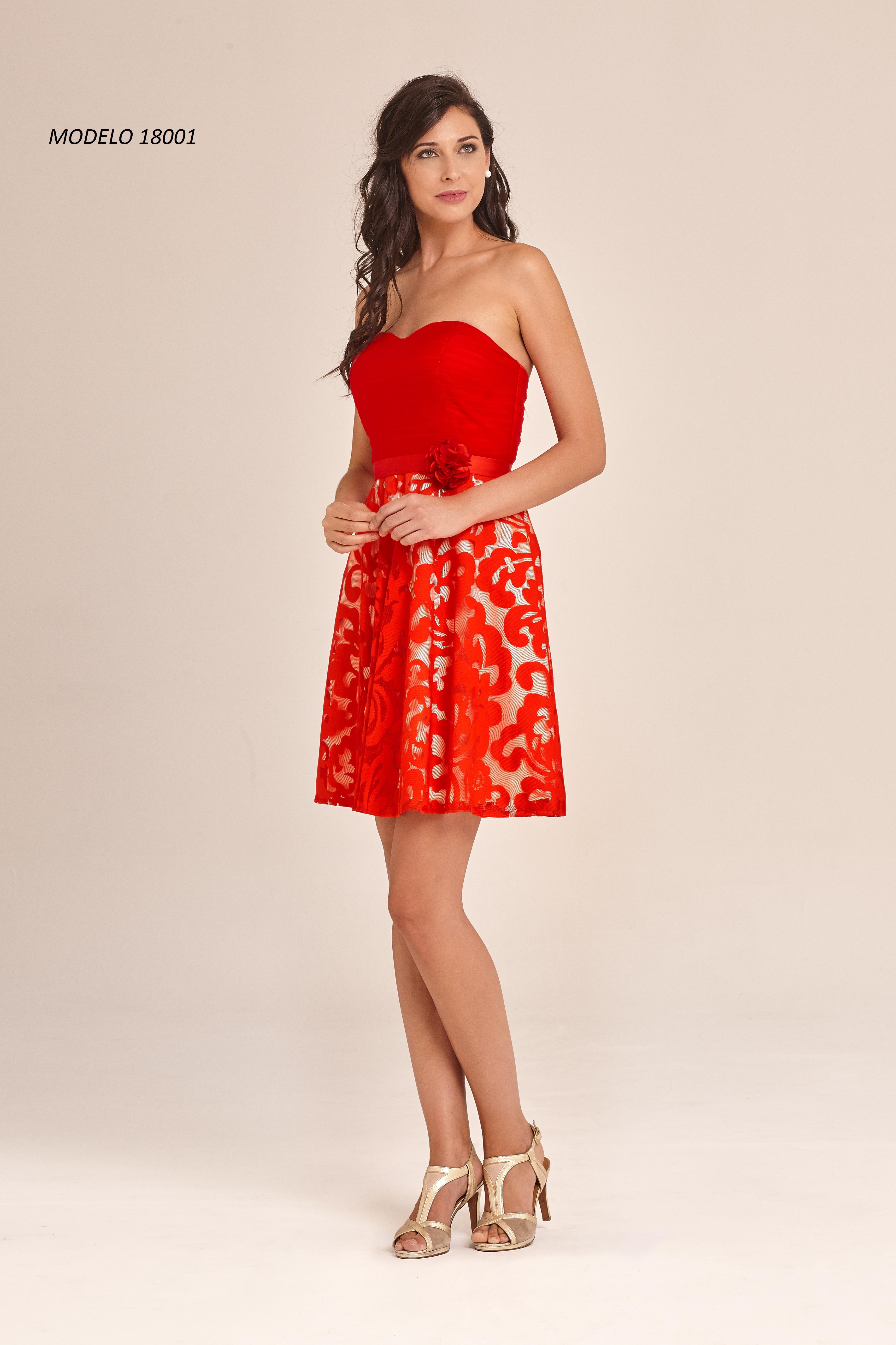 18001 vestido fiesta corto