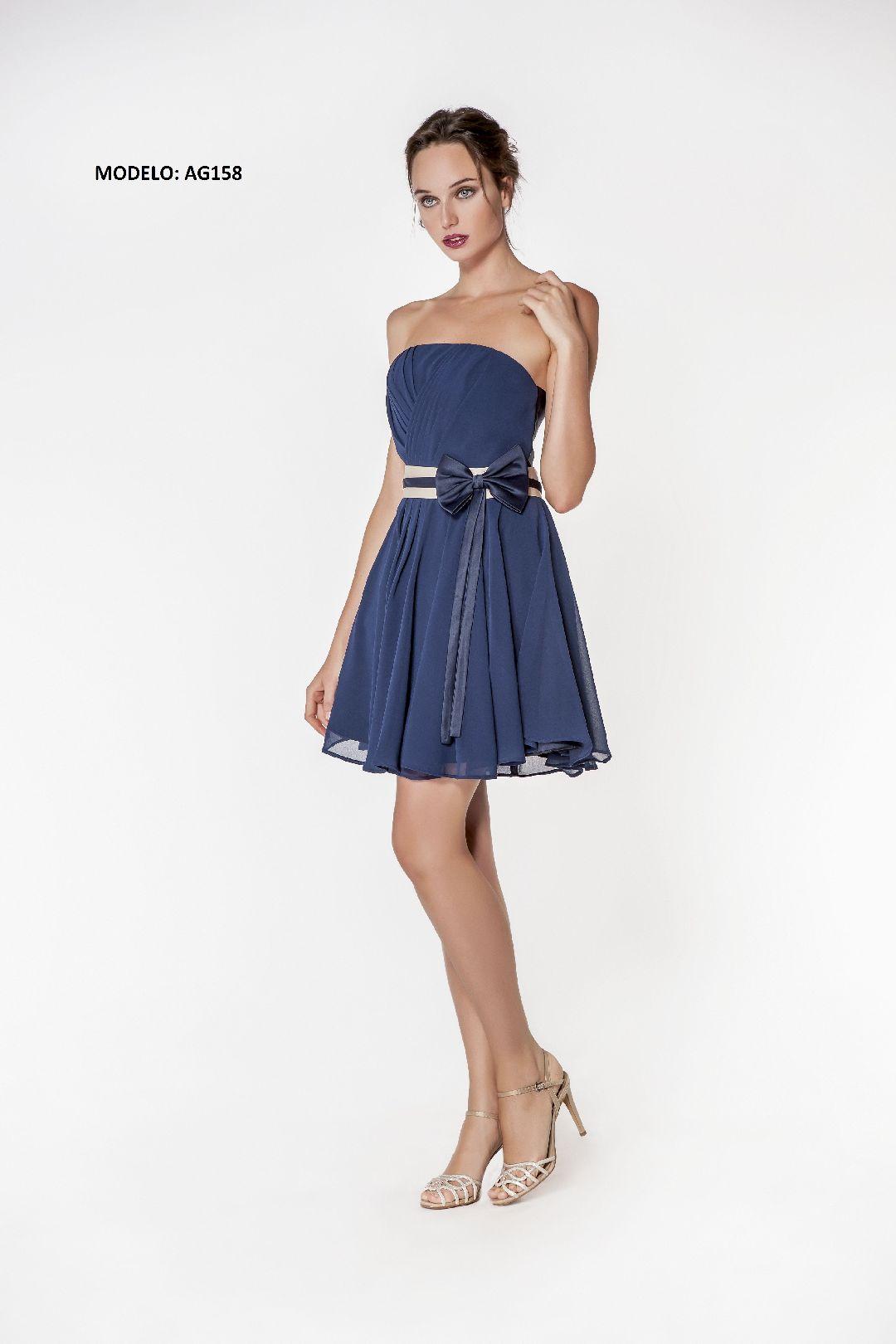 AG158 vestido corto fiesta