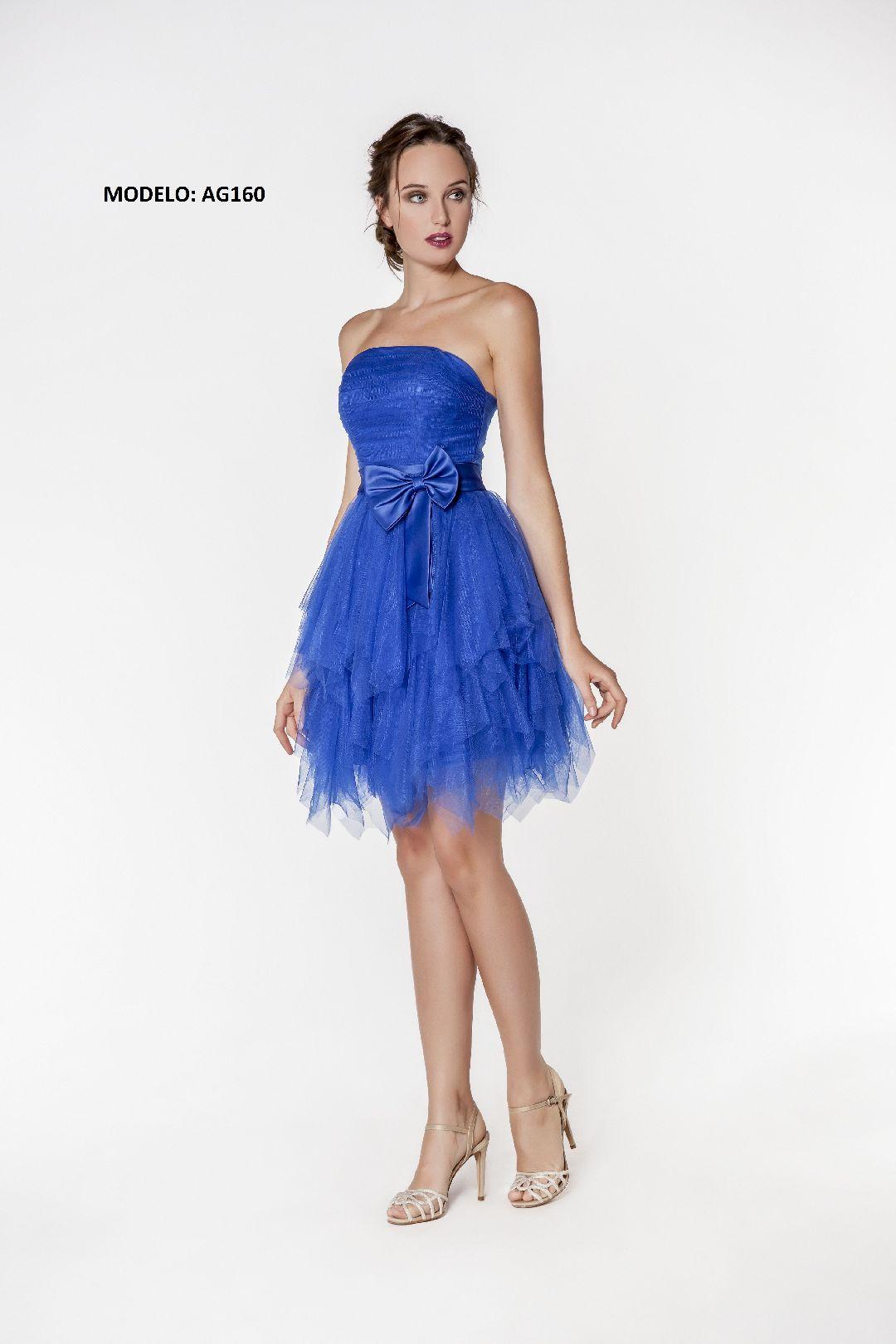 AG160 vestido fiesta corto